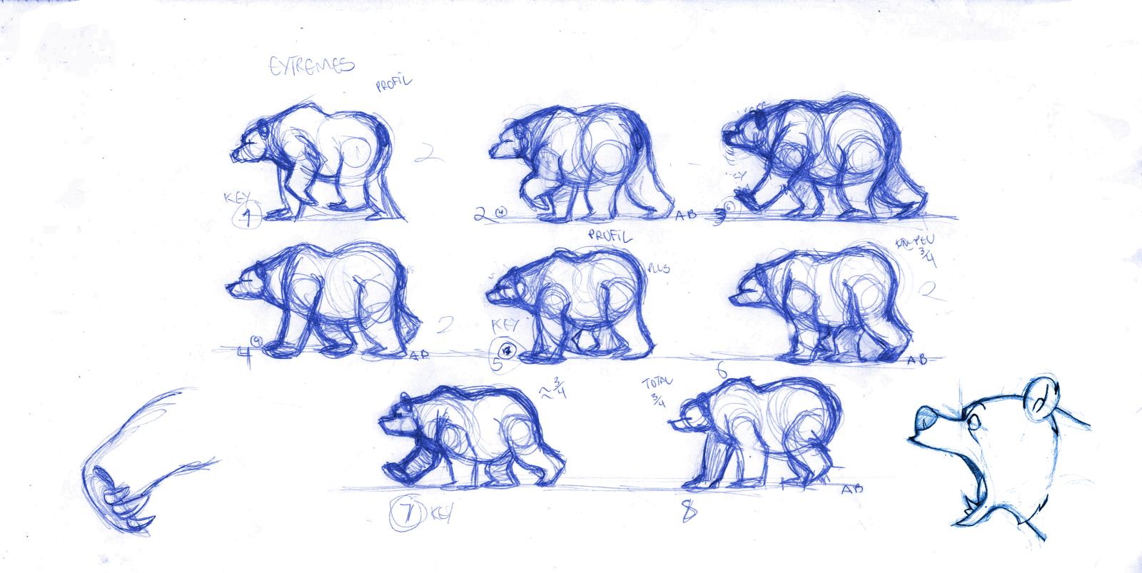 bear walk cycle - Google Search | Help with Drawing ... Walking Bear Drawing