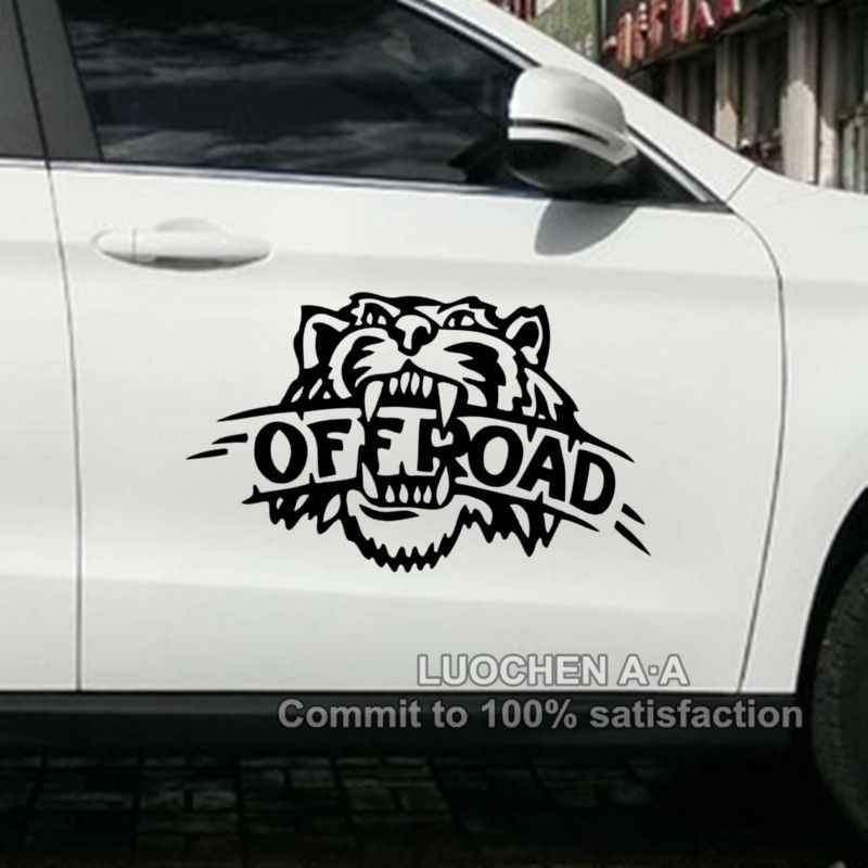 Car stickers tiger off road suv creative decals cyter for doors waterproof auto tuning styling 4wd