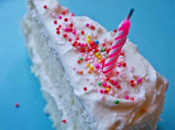 Vanilla Birthday Cake with OldFashioned Vanilla Buttercream