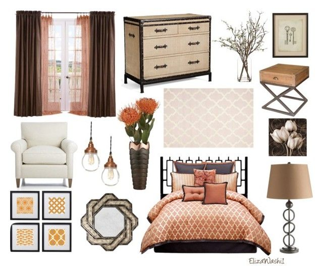 """Untitled #294"" by elizawashi1 ❤ liked on Polyvore featuring interior, interiors, interior design, home, home decor, interior decorating, angelo:HOME, Hansen, Pottery Barn and Crate and Barrel"