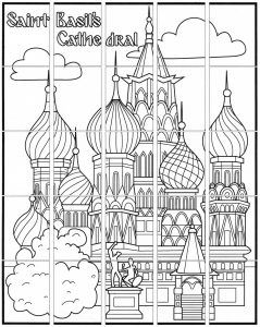 Saint Basil S Cathedral Mural Coloring Pages St Basils