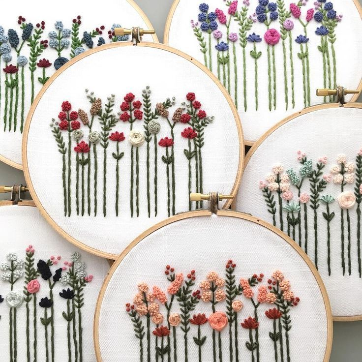 Hand Embroidery Pattern - Original Wildflowers Digital Download
