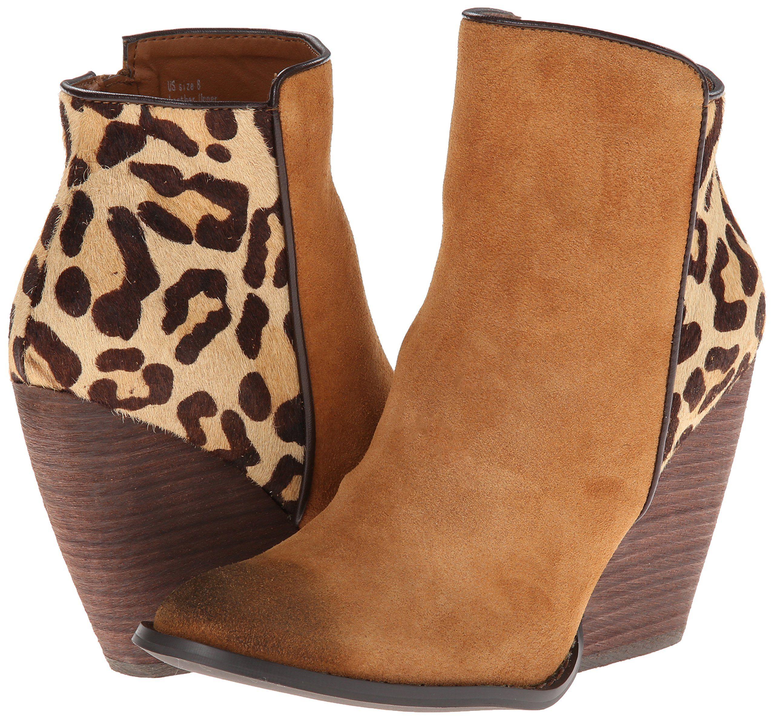 volatile leopard booties