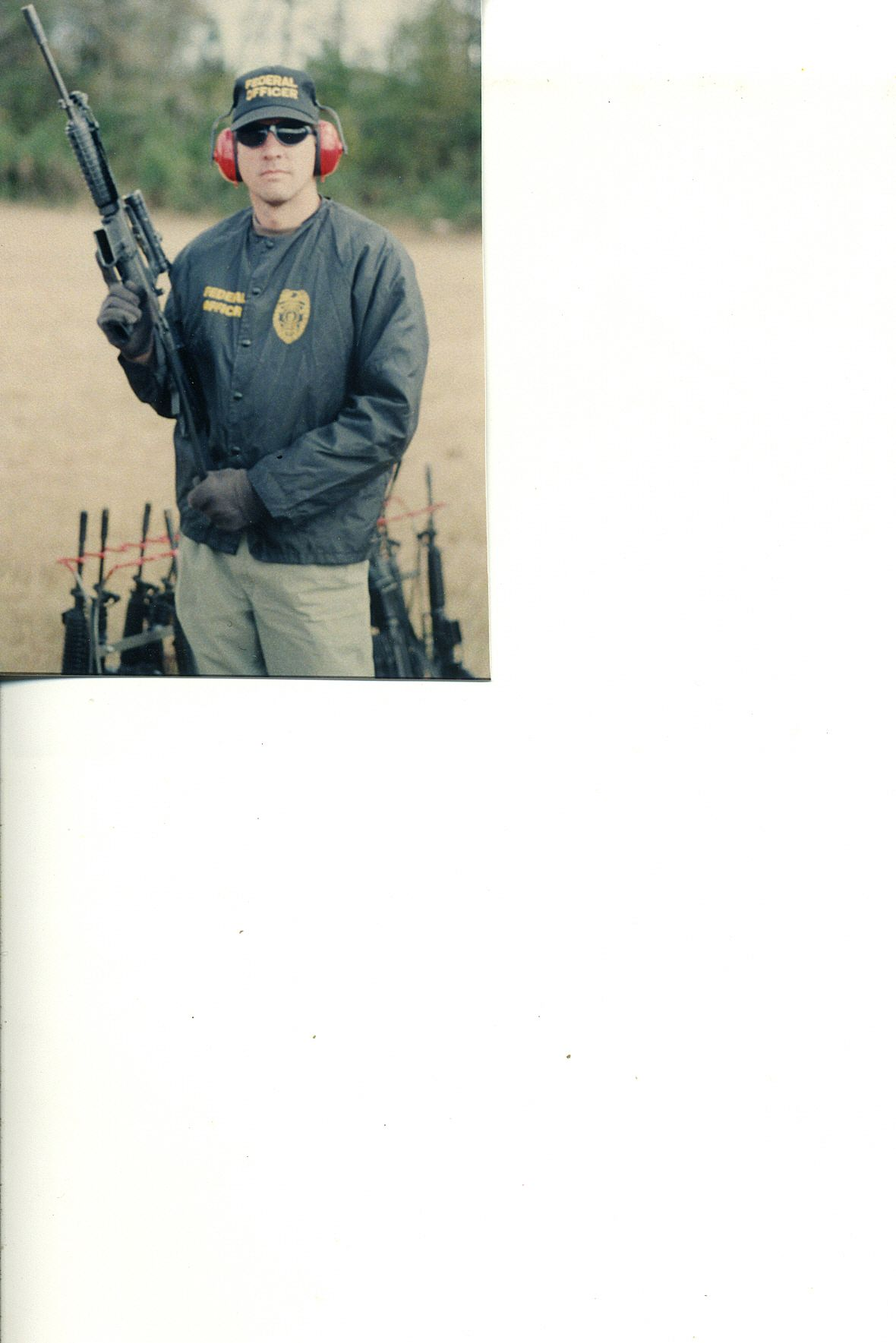 Federal Officer Bill in training, '90s.
