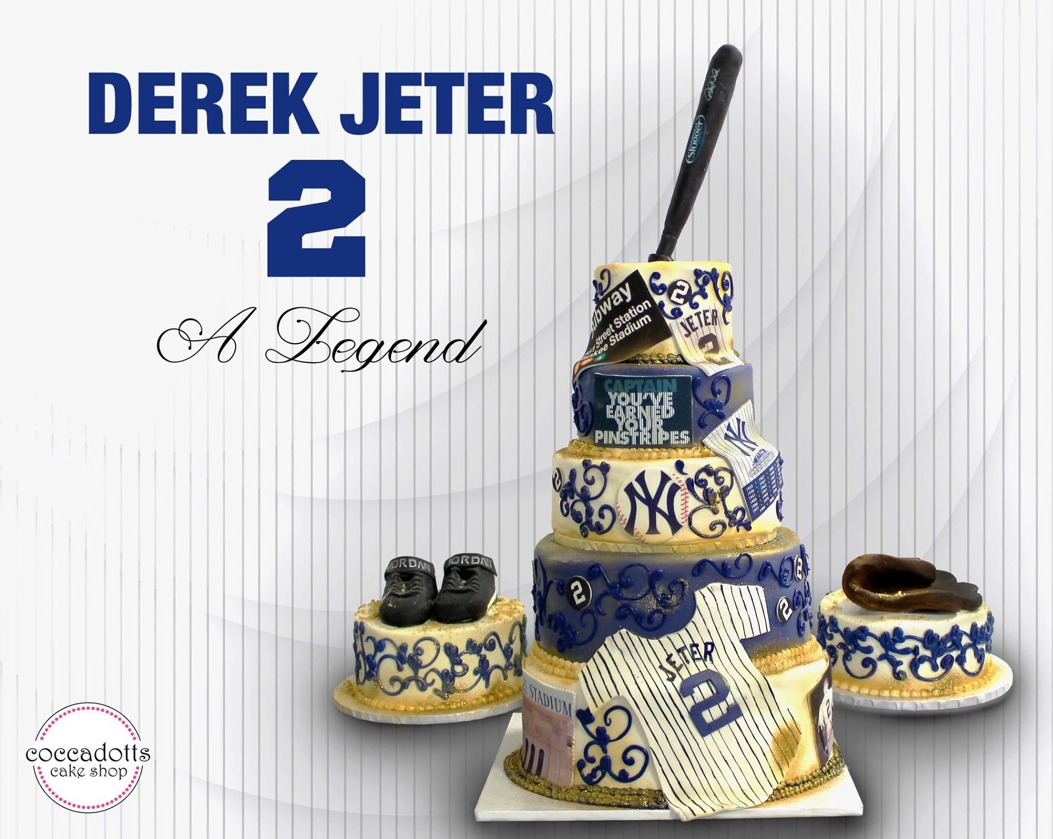 Terrific Derek Jeter Retirement Cake By Coccadotts Bakery Albany Ny Funny Birthday Cards Online Ioscodamsfinfo