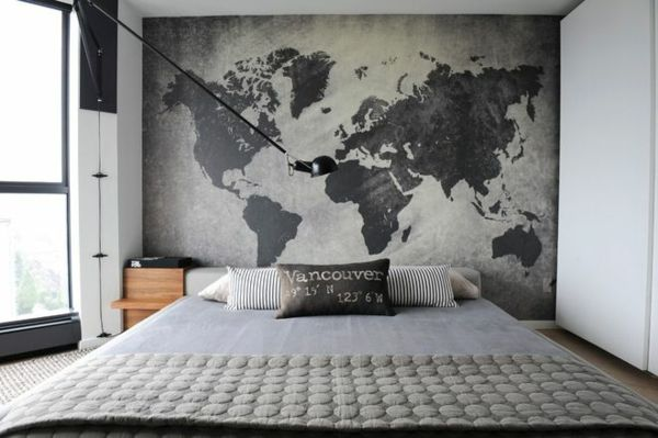 Dekoration schlafzimmer wand  Wand – Landkarte Muster | Maps | Pinterest | Landkarten, Wände und ...
