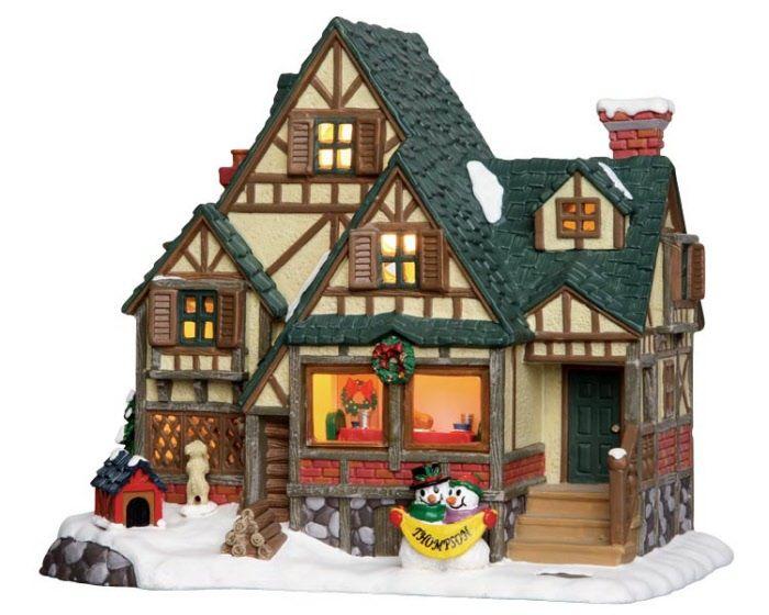 Lemax Thompson Tudor House | Lemax Christmas Village | Pinterest ...