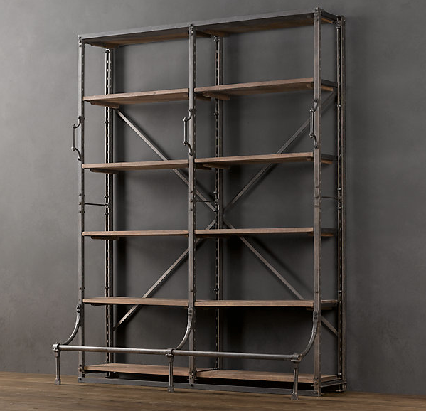Bookcases For A Home Office Traditional White Vs Industrial Vintage Industrial Furniture Industrial Design Furniture Industrial Furniture