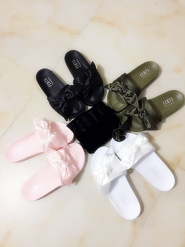 super popular 3b094 aea42 PUMA fenty rihanna silk slides sneakers spring (10-color ...