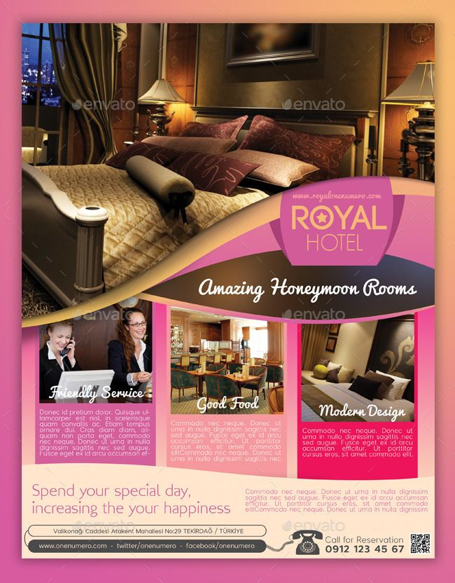 Royal Hotel Flyer Template flyers Pinterest Flyer template and