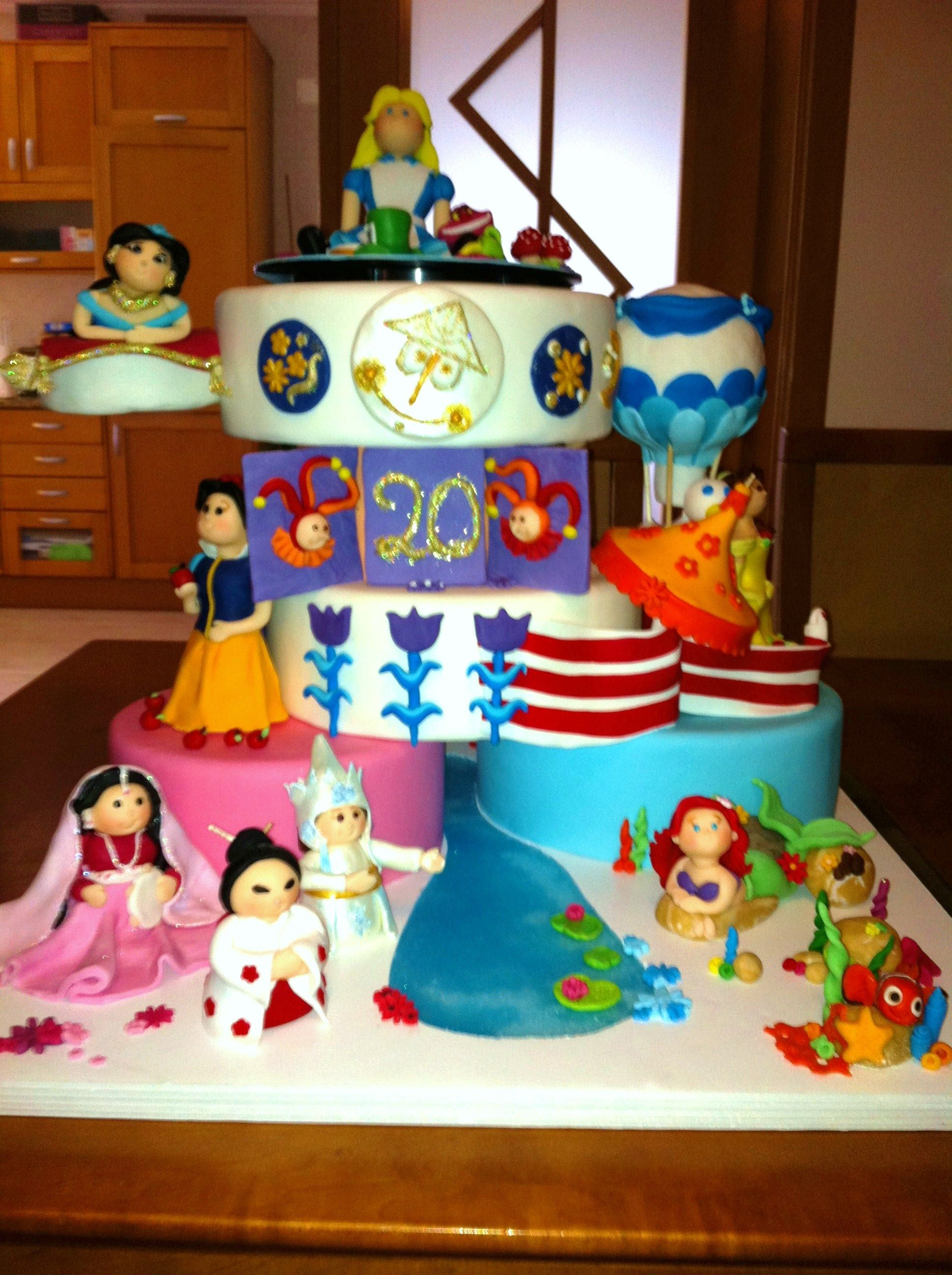 Its A Small World Disney themed cakes, Disney cakes