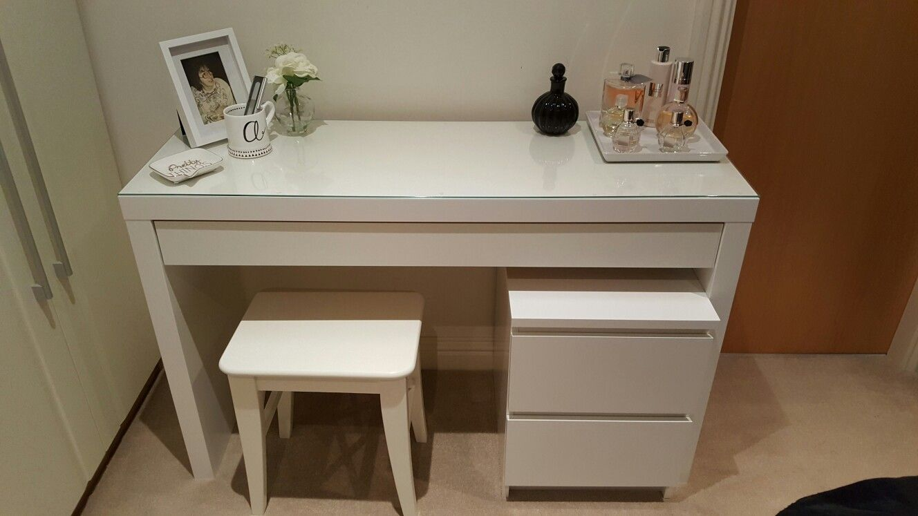 My Dressing Table Idea With Ikea Malm Dressing Table Stool And