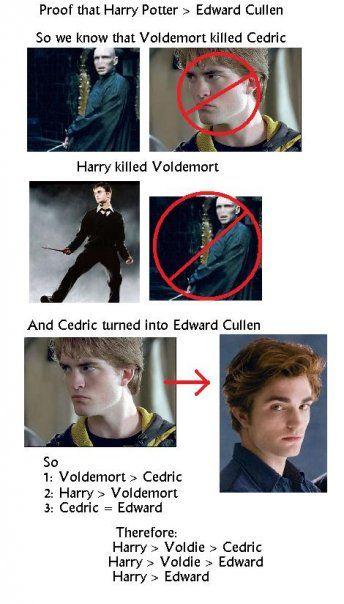 Proof That Harry Potter Edward Cullen Harry Potter Funny Harry Potter Love Harry Potter Fan