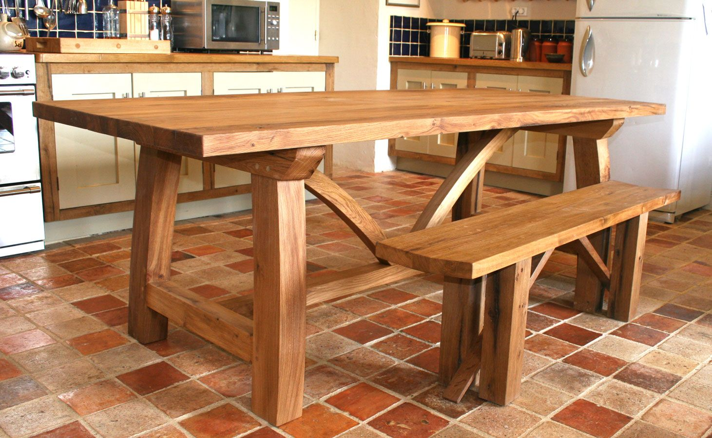 Bespoke Refectory Table  Handmade Oak Dining Room & Kitchen