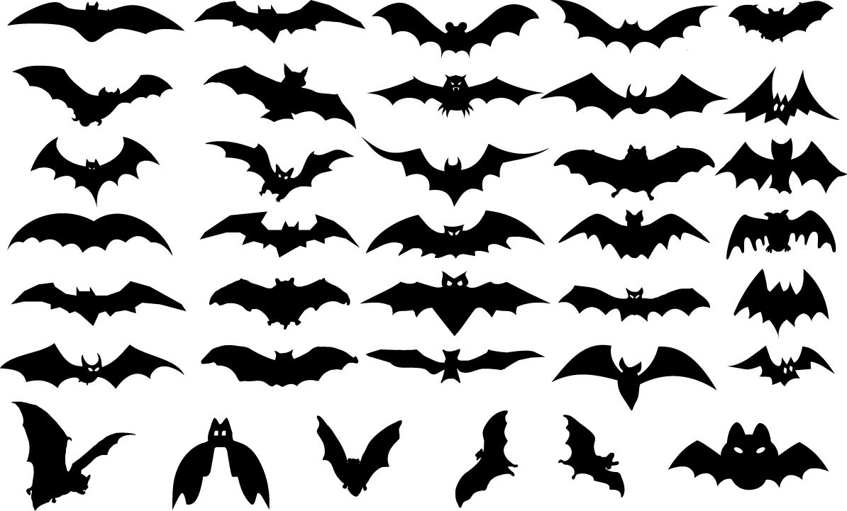 Bat Silhouette Bad Bat Dark Dracula Evil Flight Fly Gothic Halloween Horror Mammal Monster Scary Bat Silhouette Halloween Vector Halloween Design