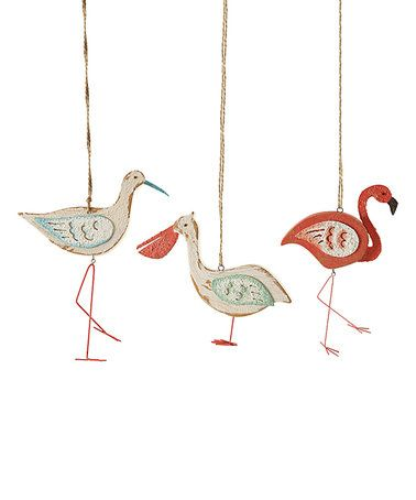 Loving this Distressed Sea Bird Ornament - Set of Three on #zulily! #zulilyfinds
