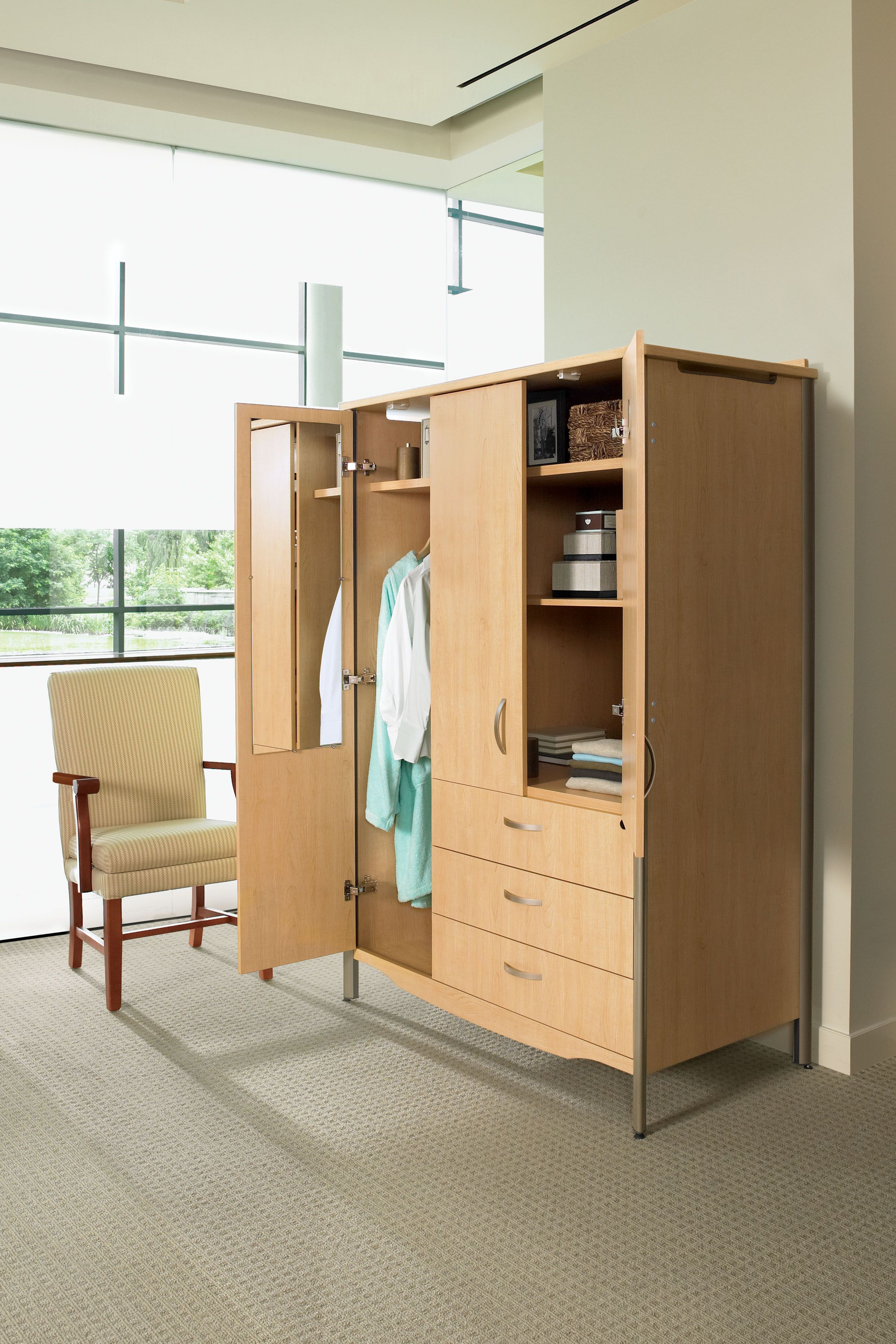 Patient Room Design: GLOBALcare Sonoma Wardrobe And Majesty Chair
