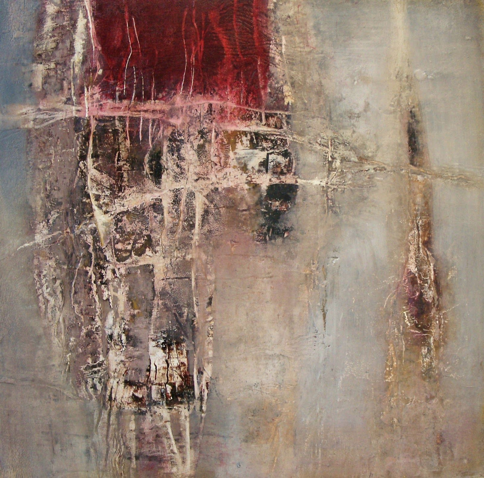 Jeane Myers, oil and cold wax on panel, 20x16, Sitting In The North