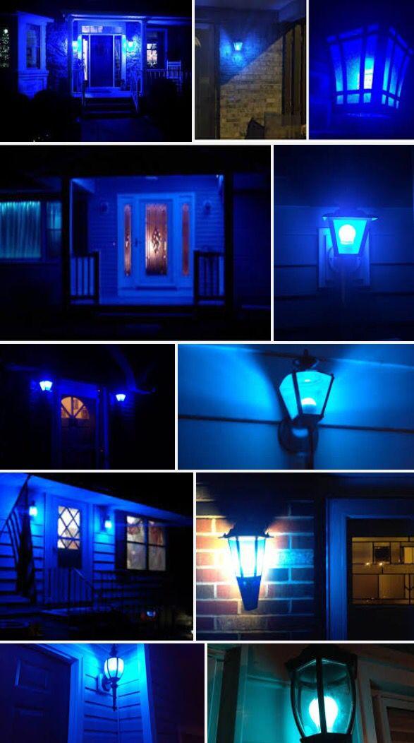 Blue Lives Matter Police Appreciation Blue Porch Light #weseeyou