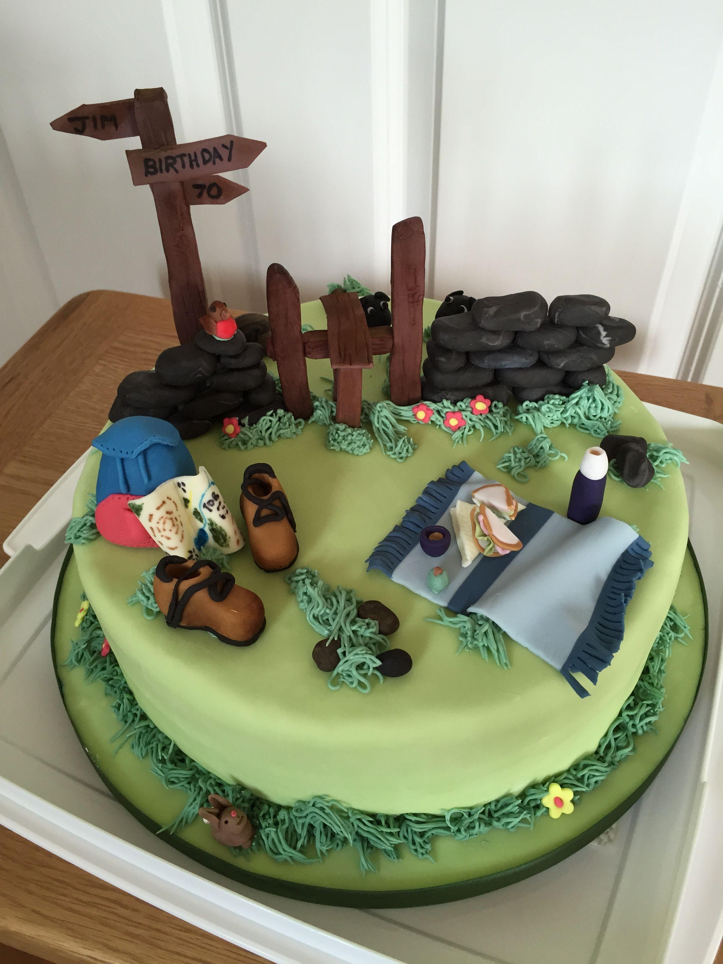 Cake For A Rambler Fondantideen Pinterest Cake