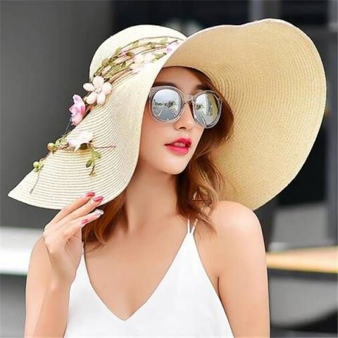 4c8c187c Pin by Bella Iannozzi on Accesories in 2019 | Floppy straw hat, Wide ...