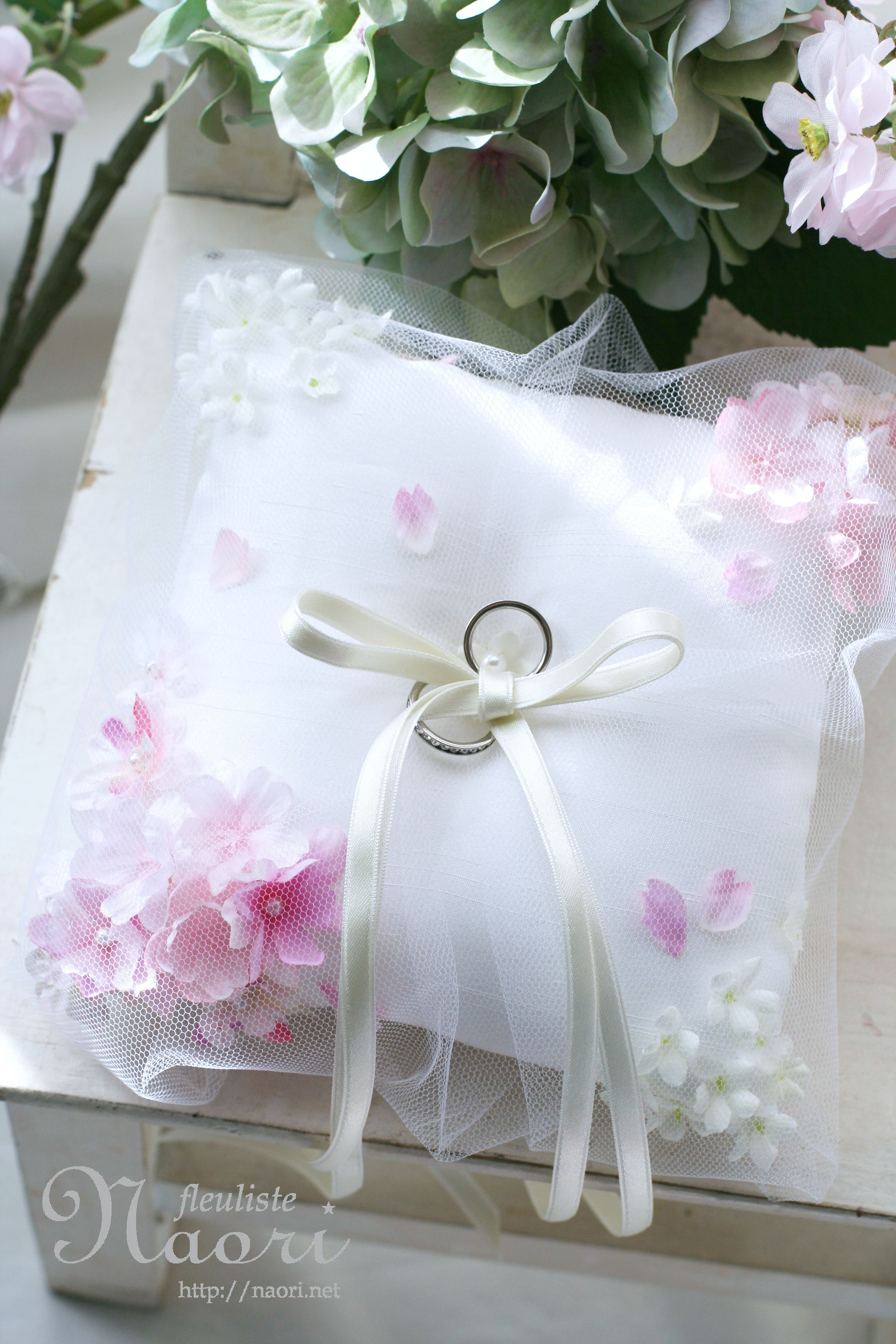 さくらだリングピロー Cherry blossoms Sakura Marriage Wedding Ring
