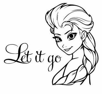 Frozen Elsa Let It Go Black Car Truck Vinyl Decal Art Wall Sticker