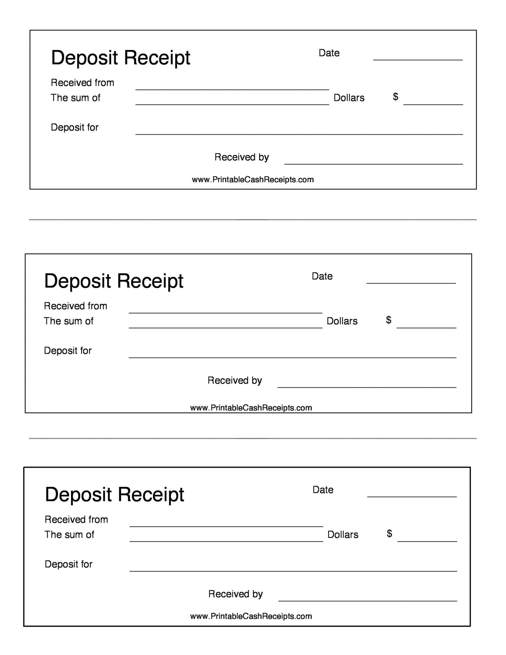 Browse Our Printable Cash Deposit Receipt Template Receipt Template Rental Agreement Templates Yearly Calendar Template