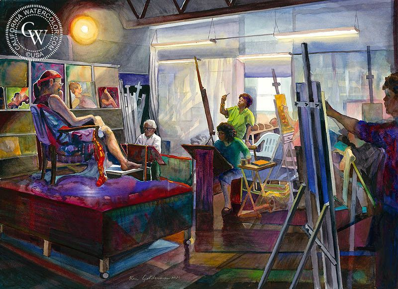 Best Interior Design Schools In California Painting my figure drawing class | figure drawings, arches watercolor paper