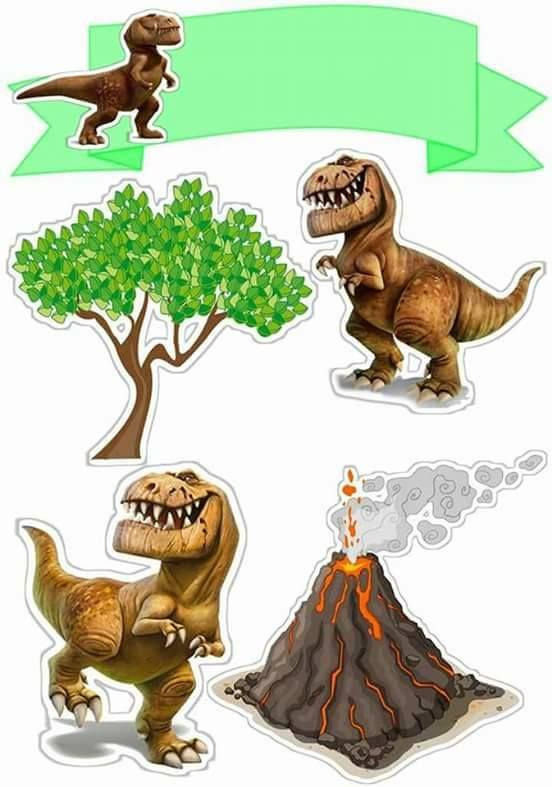 Topo De Bolo De Papel Dinossauro Bolo Dinossauro Bolo De Papel