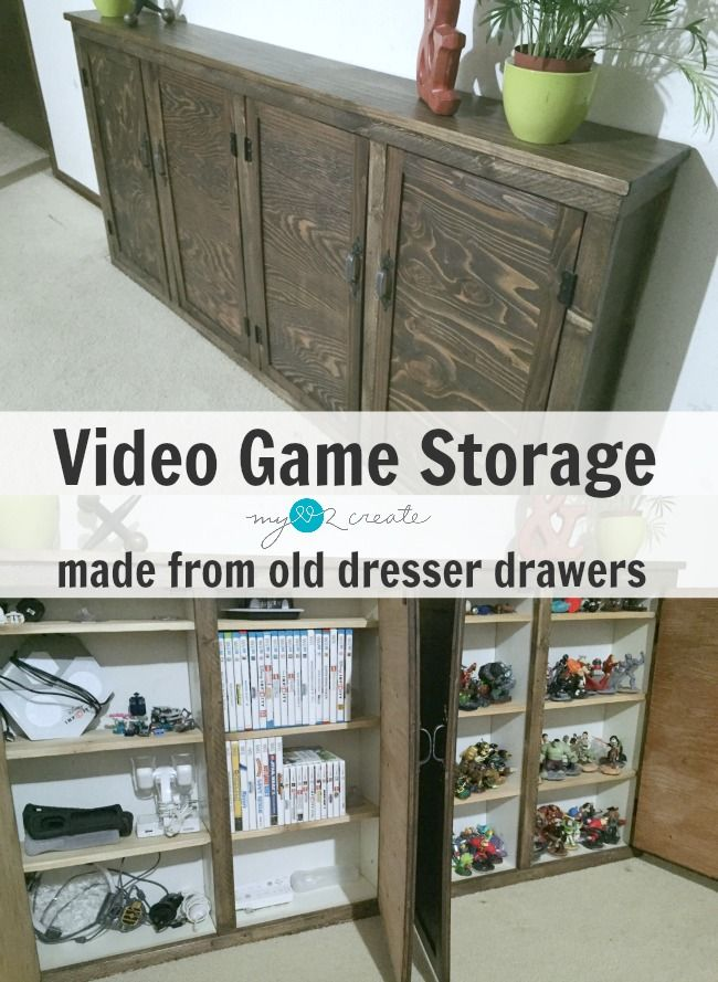 Create Your Own Video Storage Cabinets From Old Drawers Tutorial At Mylove2create