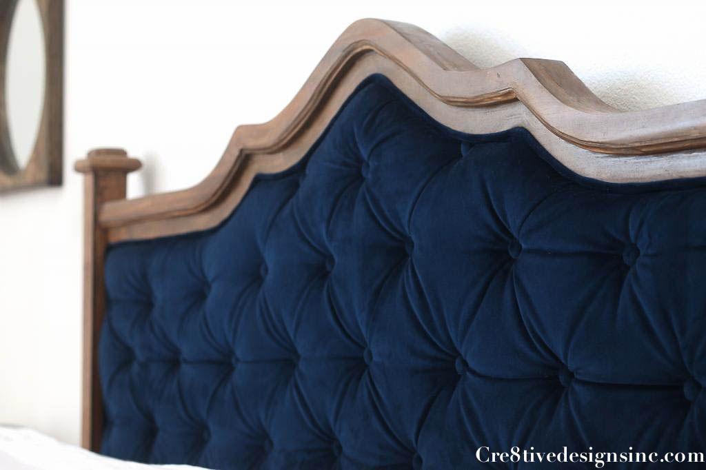Attractive DIY Blue Tufted Headboard 3 I Love Wood U0026 Navy Together