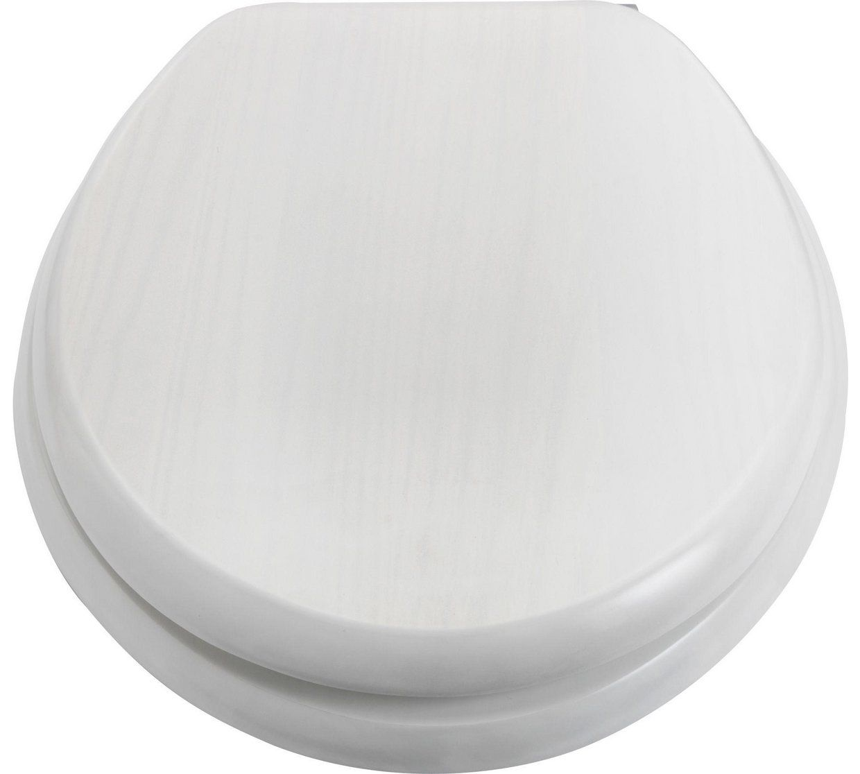 Buy Collection Solid Wood Slow Close Toilet Seat - White Washed at ...