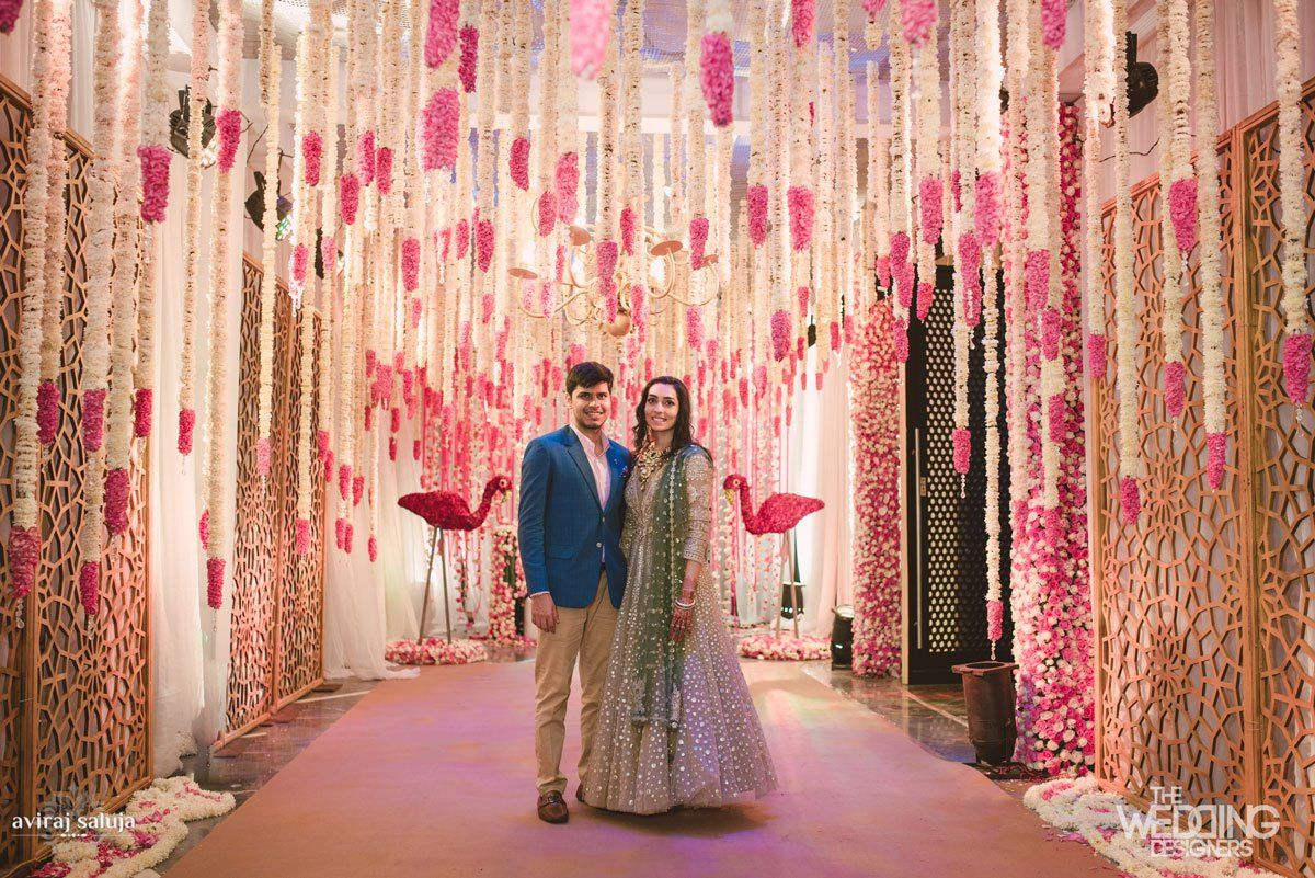 Jaya and Anish: A Roka ceremony with the most swoonworthy flower ...