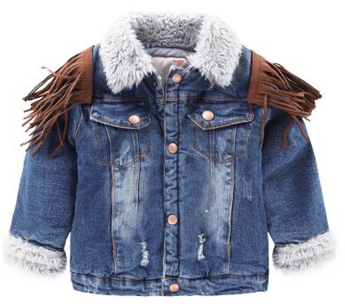 Yayu Kids Baby Boy Winter Warm Hip Hop Ripped Tassels Jean Jacket Blue 2t 1 Or 2 Sizes Up Suggested As Ours Are Jeans Coat Jackets Coats Jackets Women Jackets [ 981 x 1100 Pixel ]