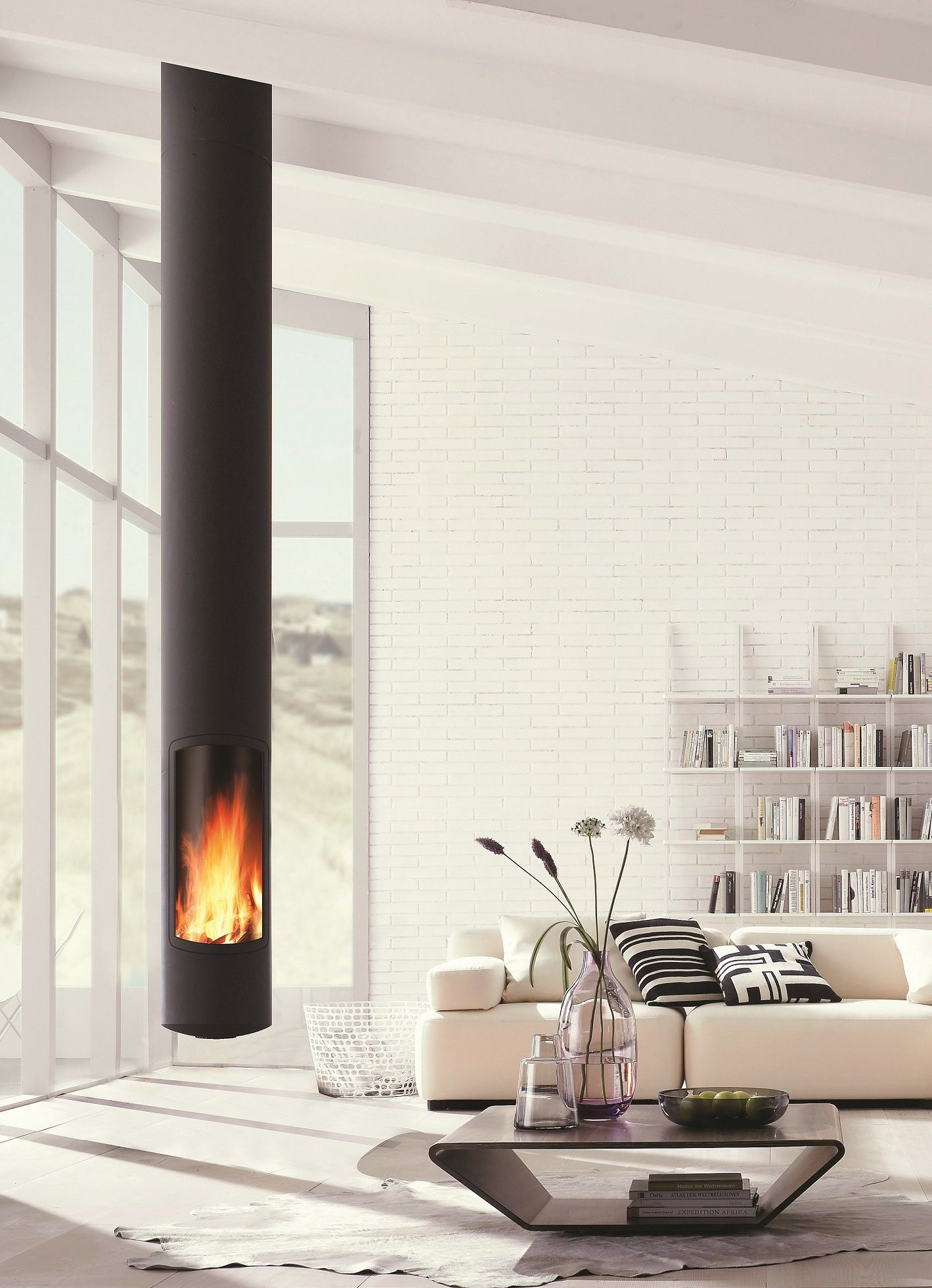 Cheminees Salas Minimun Volume Excellent Heat Performance Slimfocus By Focus