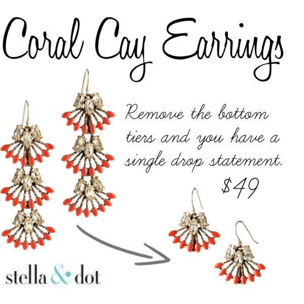Coral Cay Earrings - Polyvore