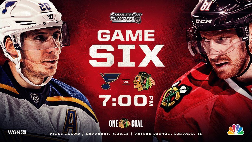 Game 6! TONIGHT! The Blackhawks look to keep the season