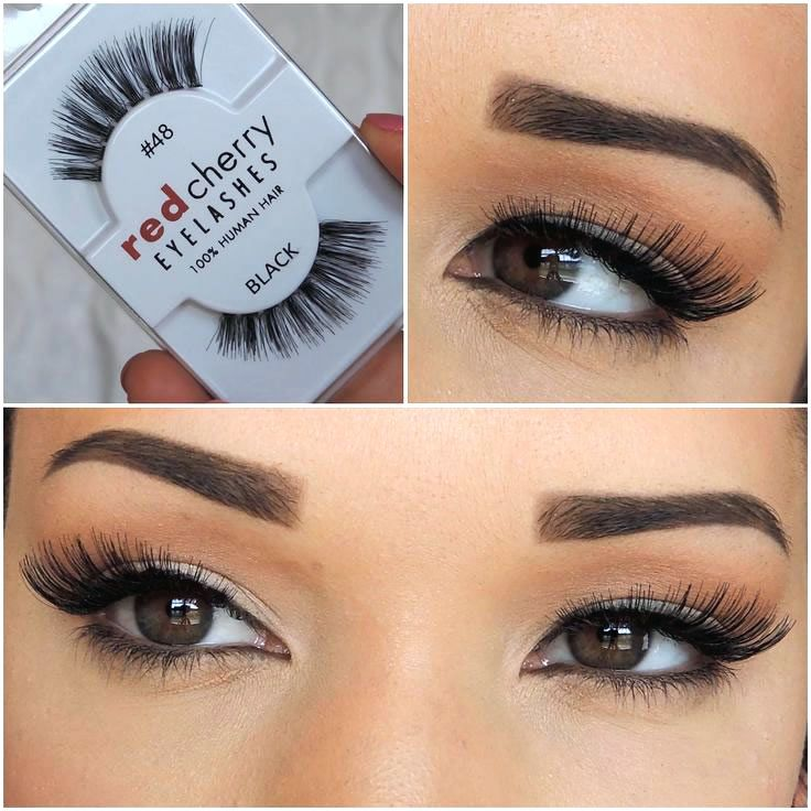 522dfd97d14 We love Red Cherry (Natural) #48 (also known as Red Cherry DARLA False  Eyelashes) are voluminous black false eyelashes, with graduated length. Demi  Wispies ...