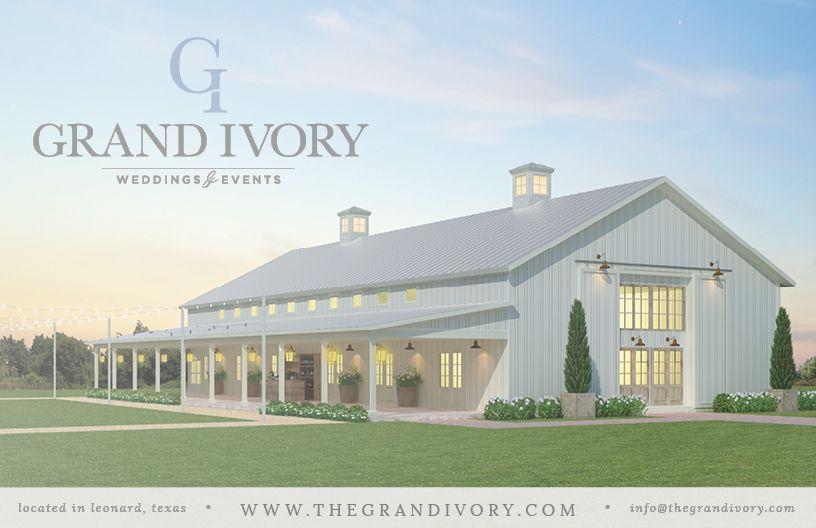 DFW's newest wedding barn venue, The Grand Ivory. white ...