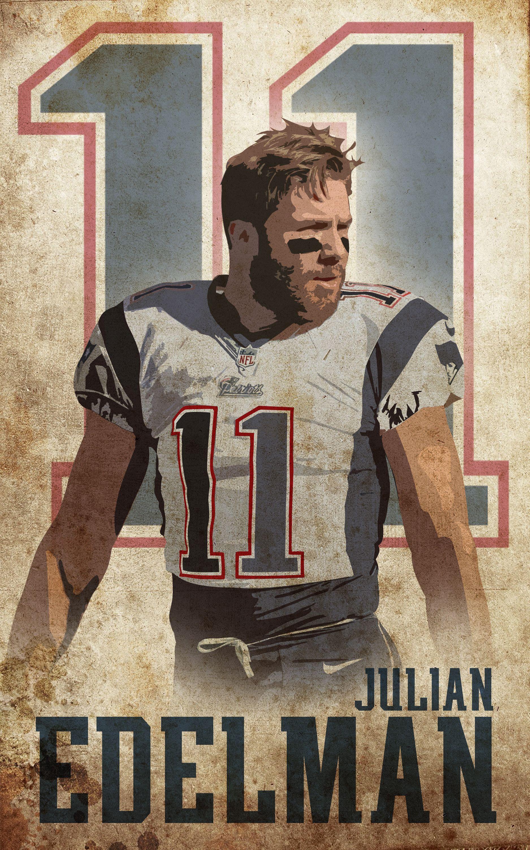 Julianedelman Minitron Je11 Patsfanart Edelman Patriotsnation Patriotsart Julian Edelman New England Patriots Patriots Football