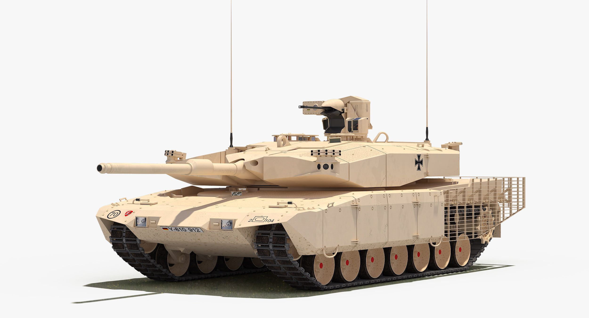 Leopard 2 Mbt Revolution 3d Max - Model Pancer