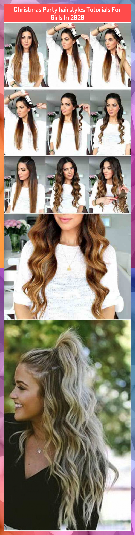 Christmas Party hairstyles Tutorials For Girls In 2020<br />#Christmas #girls #Hairstyles #Party #Tutorials