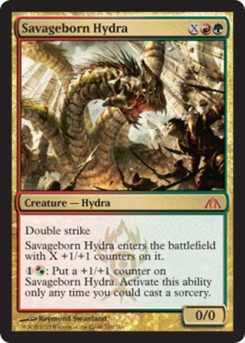 Frontier X4 >> Savageborn-Hydra-x4-Magic-the-Gathering-4x-Dragons-Maze-mtg-mythic-rare-lot | Mythic rare cards ...