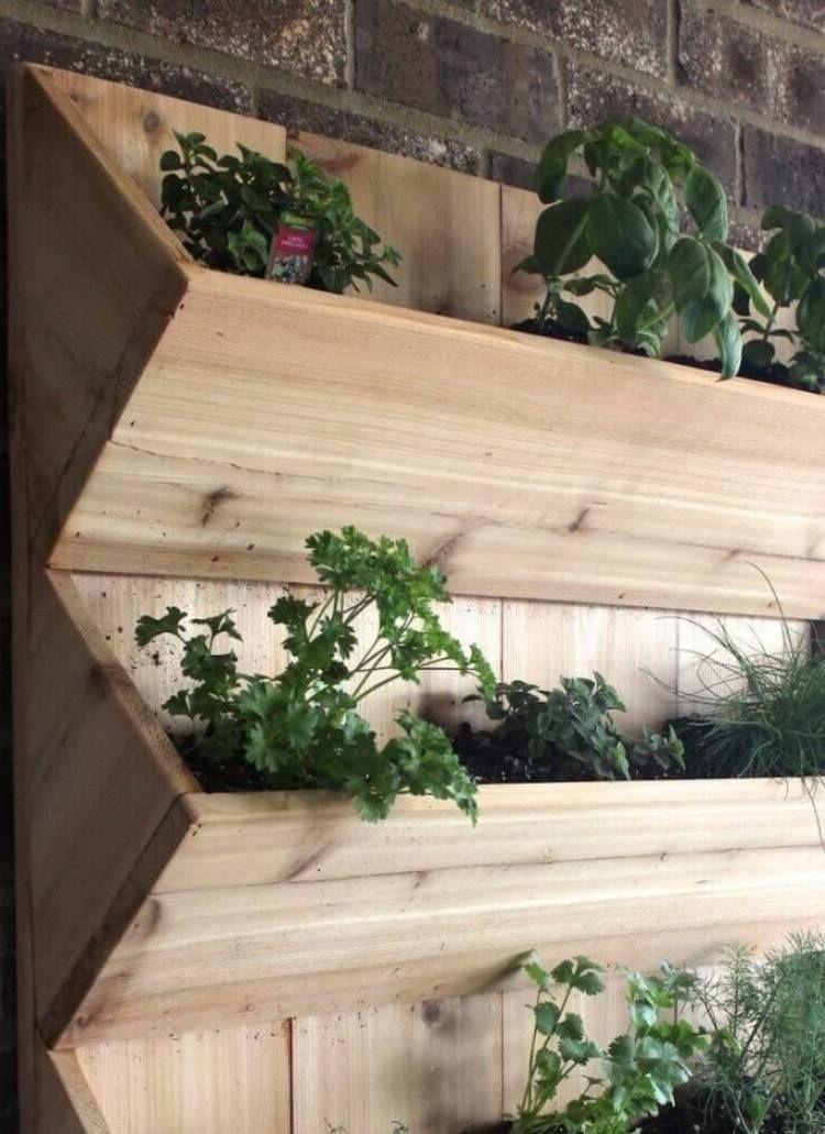 Bac à fleurs en bois à faire soi-même- plus de 52 idées DIY