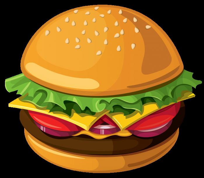Chicken Burger Png Chicken Burgers Hamburger Food Cartoon
