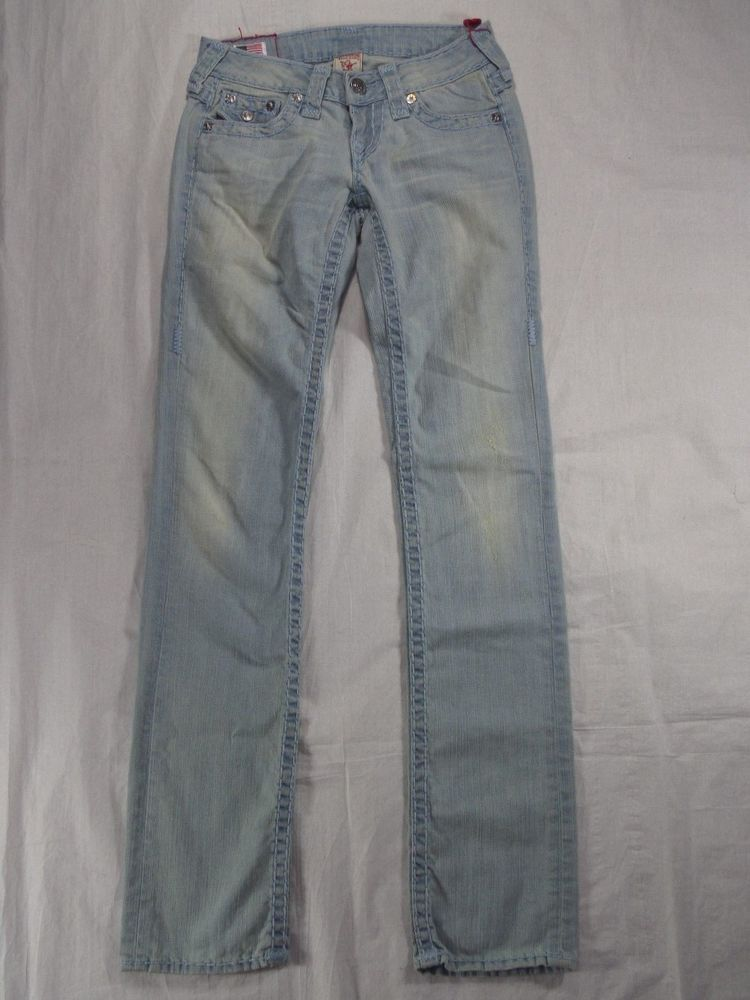 fa5d97266040 TRUE RELIGION sun bleach BILLY SUPER T distressed women s jeans SIZE ...