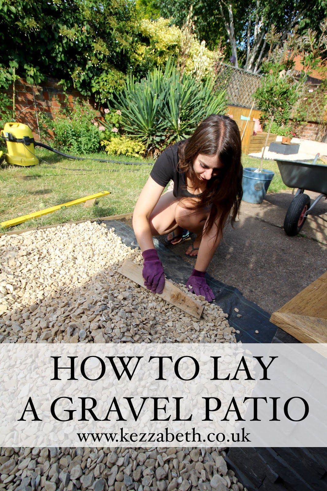 Laying Gravel In the Garden | Gravel patio, Gravel ...