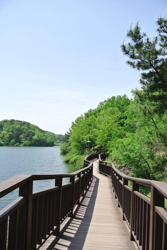 Khoảng trời xanh ở công viên hồ Seonam, thành phố Ulsan 울산 선암호수 공원