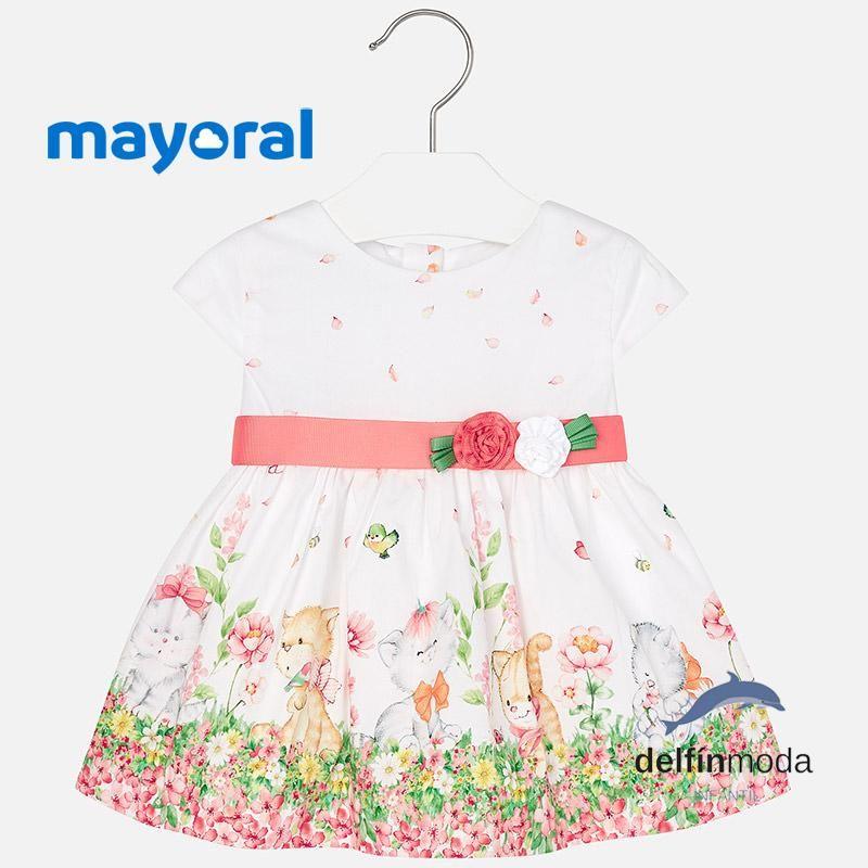 585a93640 Vestido de bebe MAYORAL para niña estampado